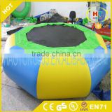Inflatable adult and kid bouncer Jumping Bed water park Floating Water Trampoline for sale
