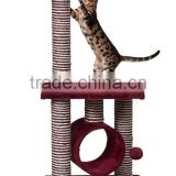 Zhejiang Huzhou Anji Kaifeng small wood and sisal Cat Tree ,cat Scratcher Post ,cat climbing frame,cat house