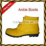 [Gold suppier]Ankle cut safety boots/men rain boots/rain boot