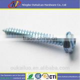 Hex slotted head blue zinc self tapping screw/ Cement board screw