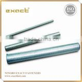 Din975 thread rod with din934 hex nut/threaded rod zinc plated or stainless steel stud bolt m16