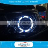 Hot sell 3D Angel Eye bi xenon projector lens with LED angel eye for auto drl
