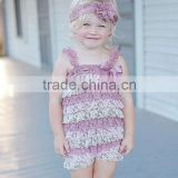 Adorable sequin romper with matching headbow hairbow 2015 baby romper baby clothes baby wear baby christmas romper