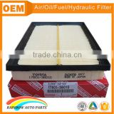 Colorful paper high quality 17801-38010 toyota air filter                                                                         Quality Choice