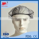 made in China kinds of Disposable nonwoven hair net Nylon hairnet for hospital manufactuer