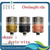 22 mm black /stainless /copper /brass mechanical onslaught rda wholesale onslaught rda clone