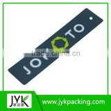 High quality customized garment paper cardboard hang tags for clothing jeans shirts bags