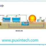 China Puxin Low Cost Midium and Large Size Biogas Plant for 50-2000 Cubic Meter a Day Biogas Production