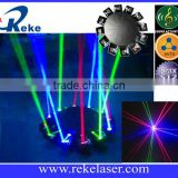 12 claws super strong rgb fat beam generator ufo laser lighting