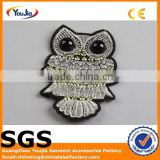 China machine made owl shape embroidered patches