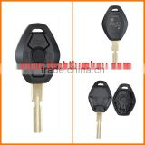 key blanks wholesale 2 buttons blank with 2 track blade car key shell for BMW e46 e39 e 36 e 34 x5