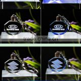 2016 New selling Crystal Led Lights Laser Logo Key Holders