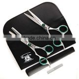 LEFT6'' Professional Hairdressing Barber Hair Cutting Thinning Razor Scissor set