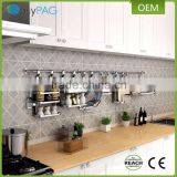 Kitchen supplies 2 tier stainless steel wall hanging kitchen utensil organizer spice rack