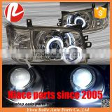 Crystal CCFL Angel Eyes HID Projector lens Headlight for Toyota Hiace KDH200 05-10