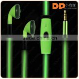 2016 consumer electronics EL headphone LED light EL wire earphone custom earbuds with logo