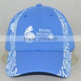Guangzhou hat factory professional custom 8 panel / 100% cotton/blue/embroidery logo/baseball cap