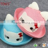 2016 School Girl Hat Paper Woven Straw Hat Breathable for Summer