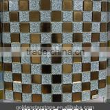 glass mosaic mirror vase (crystal glass)