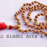 spiritual white sandalwood necklace/round wood beads/japa beads