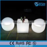 PE party/salon bar stool furniture,white plastic fancy shape led egg chair