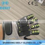 13 Guage Nylon Nitrile Sandy Palm TPR Back Impact Resistant And Anti Vibration Work Glove
