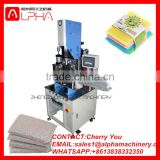 High frequency ultrasonic welding machine/dish washing sponge scrubber making machine/cloth pad cutting machine
