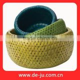 Handmade Knit Natural Bamboo Moses Basket
