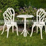 Twin Butterfly Bistro 3 Piece Set Outdoor Patio Furniture Set Antique Round Aluminum Coffee Table Set