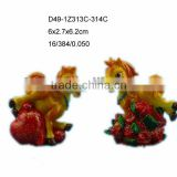 New year resin horse symbol statue