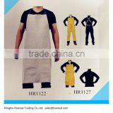 Split Leather Welding Bib Apron Protective Clothing Carpenter Blacksmith Gardening