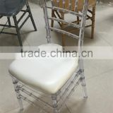 China manufacturer low price banquet clear resin chiavari chairs for sale