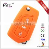 3 buttons folding car key case silicone flip car key cover for Toyota Corolla Crown RAV4