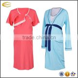 Ecoach 2016 Women Maternity Nursing Clothing Nightdress Cotton Hospital Mama Maternity Gown bath Robe Nightie for Labour & Birth