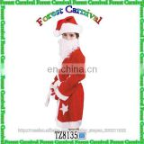 TZ8135 Hot Sale Santa Claus Costumes Retail Factory