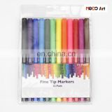 12 Colors Fine Line Washable Watercolor Markers Set for Kids Drawing