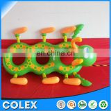 Inflatable Baby Float Boat carpenterworm Shape Animals Swimming Ring Safty PVC Material