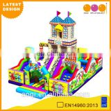 2015 AOQI latest design commercial use school style inflatable playground for kids for sale