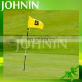 High quality popular free design polyester outdoor sport mini golf flag