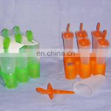 6pcs green orange small popsicle ice lolly mold