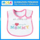 "100% Cotton Embroidery ""I Love Mommy "" Pattern "" Cotton Eo-Friendly 2015 Baby Bib"