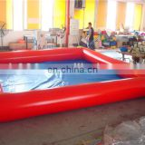 Red inflatable custom small ball pit pool 15ft