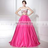 Wholesale Embroidered Two Piece Prom Dress Floral Prom Dresses LX372