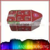 Hangzhou manufactured food safe hinged rectangle mint & candy metal tin box with FDS,SGS,Interk certified