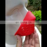 Red shaping Spiderman Faceshell with environmentally friendly silicone material for breathing