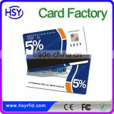 Full color custom printed plastic pvc rfid card close proximity RFID control gift card with free samples available