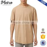 Wholesale Longline Mens Crewneck Slub Cotton T-Shirts