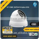 1/3 Inch CMOS 1080p 2.8-12mm Vari Focal Lens color ir dome camera, AHD CCTV Camera 2.0MP AHD Dome Camera Support IP66