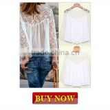 "Instyles <span class=""wholesale_product""></span> Spring Summer Women Blouses Long Sleeve Pearl Beading Casual Clothing"
