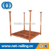 Steel stacking tire storage pallet with loading capacity 1100kgs